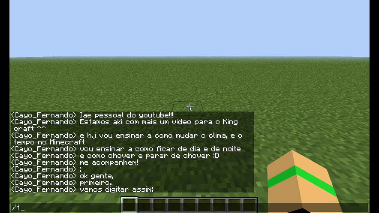 Blogando Minecraft: Como alterar o tempo
