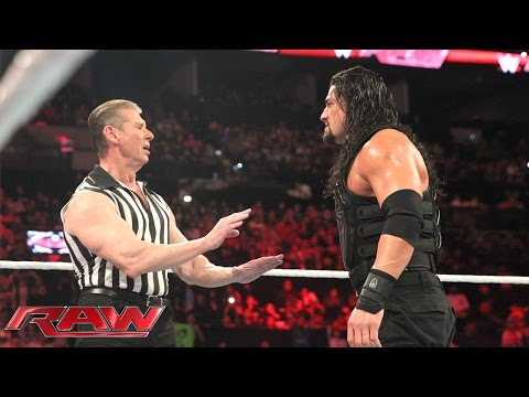Thumbnail: Reigns vs. Sheamus - Mr. McMahon Guest Ref. for WWE World Heavyweight Title: Raw, Jan. 4, 2015