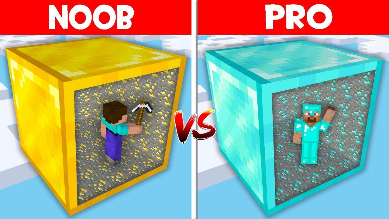 Minecraft NOOB vs PRO: NOOB FOUND HIDDEN MINE IN ONE BLOCK! DIAMONDS IN ONE BLOCK! (Animation)