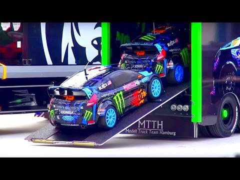 [HOONIGAN] KEN BLOCK RC Truck! KEN BLOCK Gymkhana! RC Transportation! RC Glashaus!