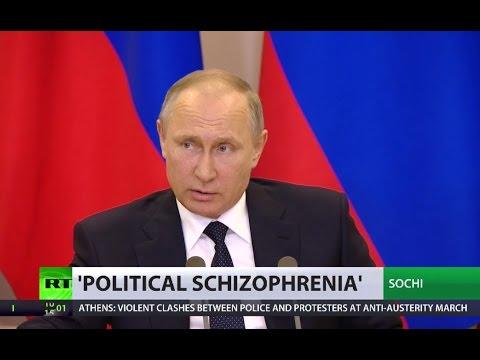 'Political schizophrenia' Putin says Trump did not pass secrets to FM Lavrov