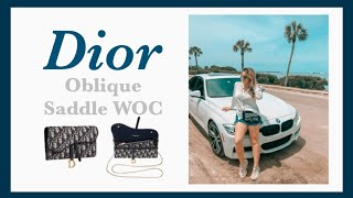 Dior Oblique Saddle Wallet Woc Unboxing Review Youtube