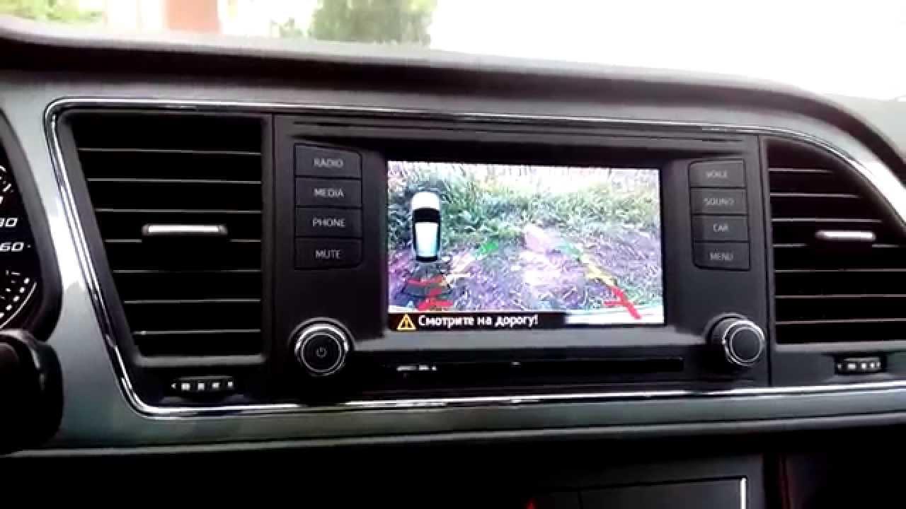 seat leon 5f rear view camera youtube. Black Bedroom Furniture Sets. Home Design Ideas