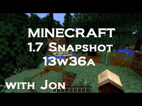 Minecraft : 1.7 Snapshot : 13w36a : New Biomes! New Blocks! More Fish! Sprint Key!