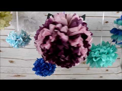 DIY Party Paper Poms | the littlecraftybugs company