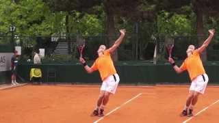 Теннис. Подача 5. (Фрагмент 32 минутного урока).