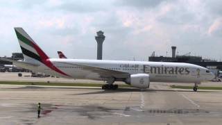 WATER CANNON SALUTE for FIRST EMIRATES flight to Chicago O