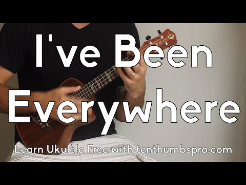 I've Been Everywhere - Johnny Cash - Ukulele Country, Blues, Rock'n'roll tutorial - Ukulele song