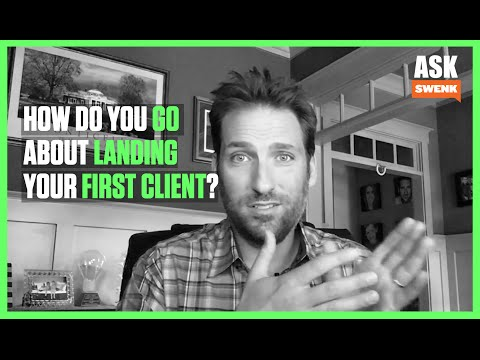 How would you go about landing your first clients as a new creative agency?