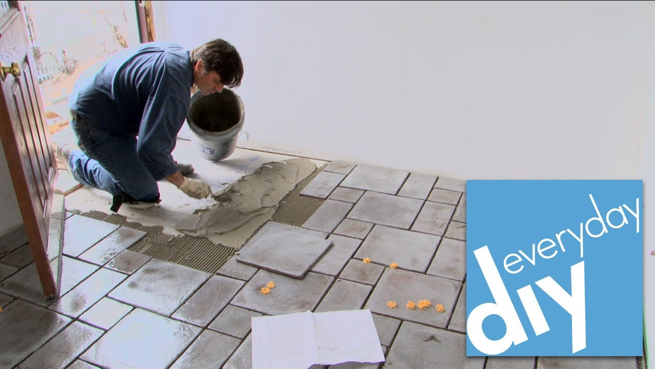 How To Install A Tile Floor Buildipedia Diy Youtube