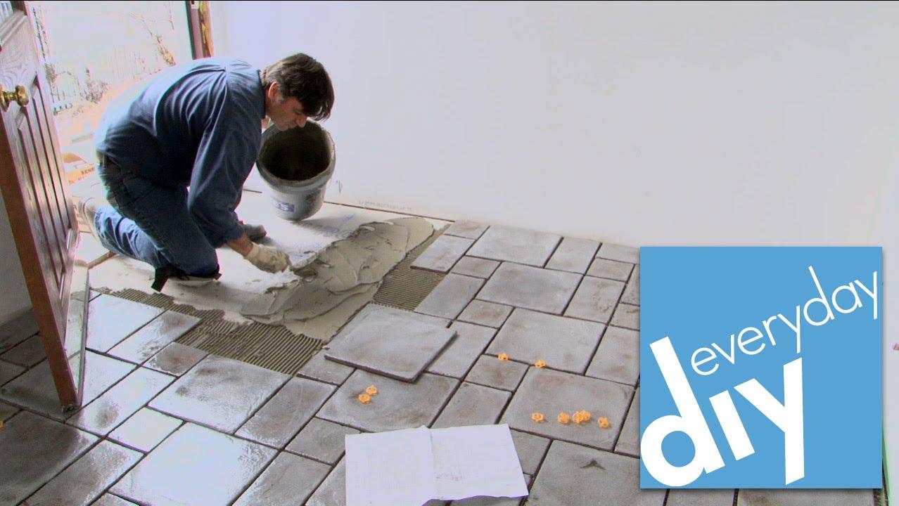 how to install a tile floor buildipedia diy