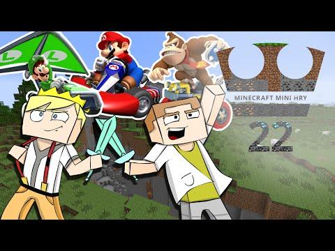 Jirka a GEJMR Hraje - Minecraft Mini hry 22 - Mario Kart