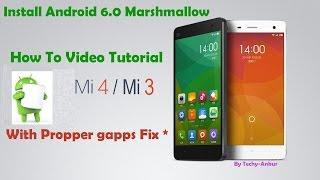 Install Android 6.0 Marshmallow on Xiaomi Mi4, Mi3 (Cancro)