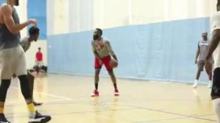 James harden and Chris Paul dominate pickup game in UCLA