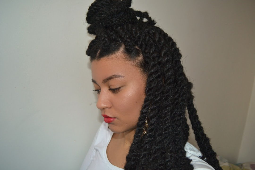 How To Havana Twist Natural Hair Easy Diy Youtube