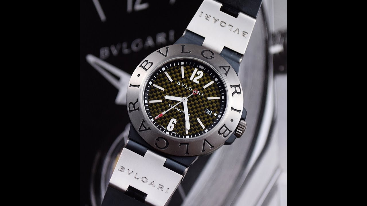 Bvlgari diagono titanium 44 mm automatic ti44ta watch overview hd youtube for Bvlgari watches