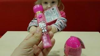 Яйцо сюрприз Hello Kitty и фонарик (лазер) Хеллоу Китти