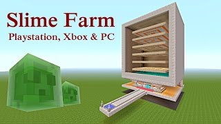 Minecraft Tutorial : Slime Farm for Playstation, Xbox & PC