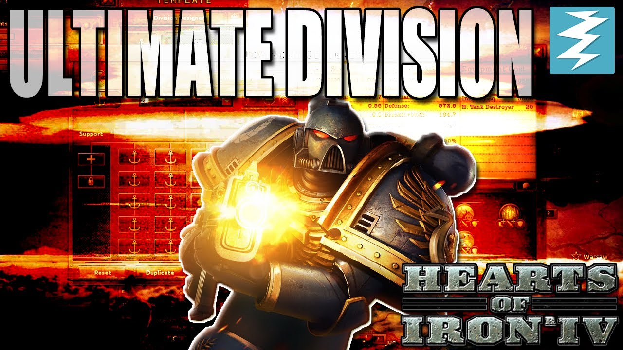 THE ULTIMATE DIVISION SUPER MARINE / SPACE MARINE - Hearts of Iron 4 (HOI4)