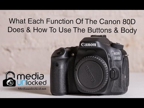 What Each Function Of The Canon 80D DOES & How To Use Them Part 2 Menus