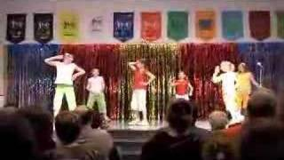 Talent show dance to Crazy Frog - Axel F