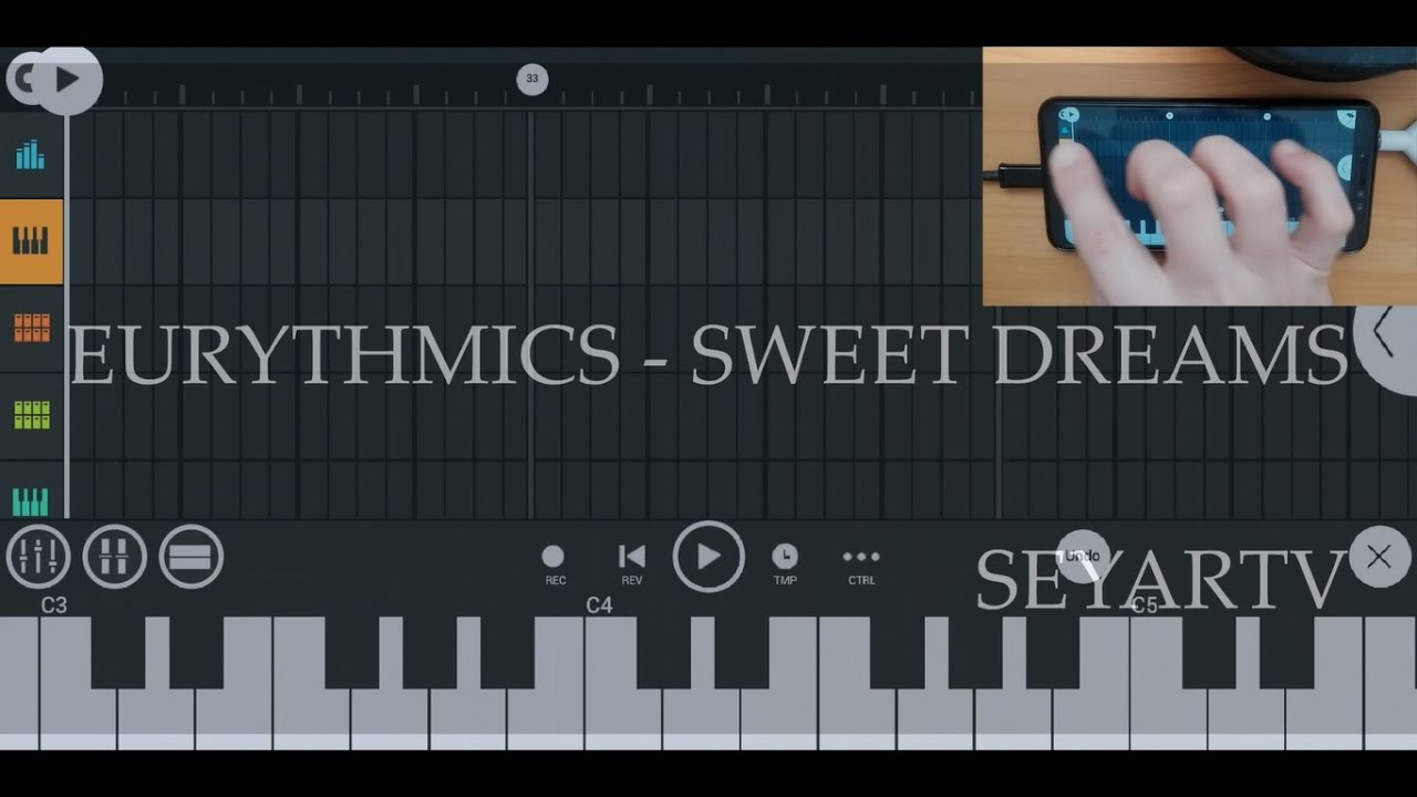 Eurythmics - Sweet dreams (piano synth cover) FL Studio Mobile on Android