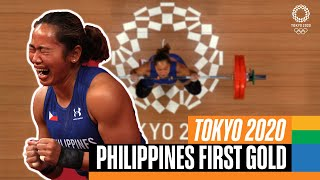Philippines win their first ever gold medal! 🏋️♀️   Tokyo Replays
