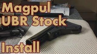 Magpul UBR Stock Installation