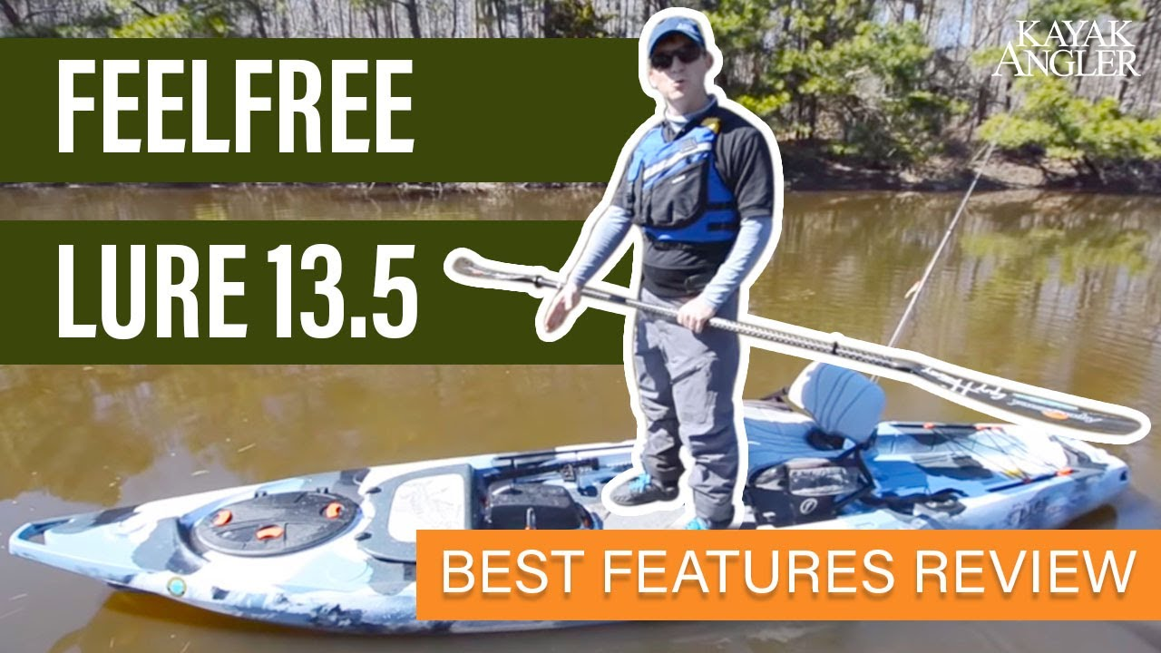 Feelfree lure 13 5 fishing kayak youtube for Feelfree lure 11 5 with trolling motor