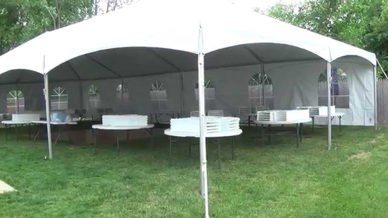 Teton Tent Rental-Wedding for 95 People-Backyard & Teton Tent Rental-Wedding for 95 People-Backyard - YouTube