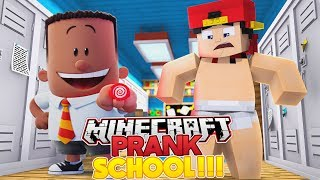 Minecraft PRANK SCHOOL- ROPO TURNS INTO CAPTAIN UNDERPANTS!!