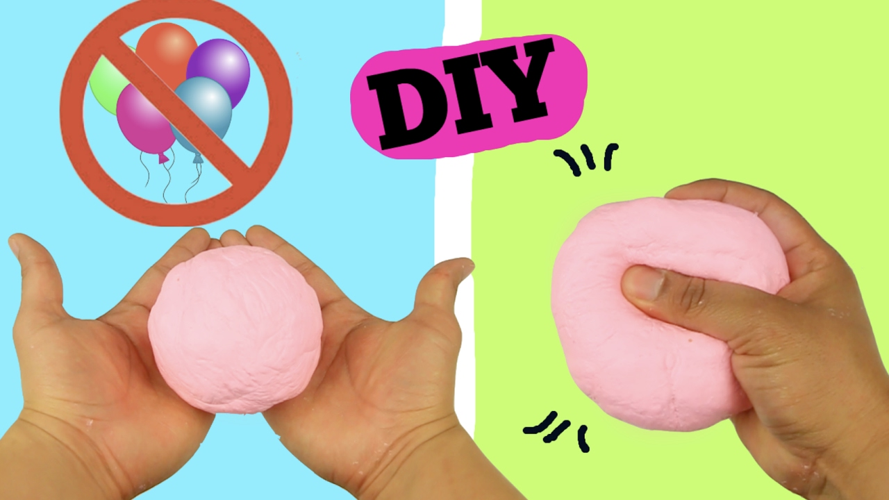 DIY SLIME STRESS BALL WITHOUT BALLOON! VERY EASY TO MAKE! - YouTube