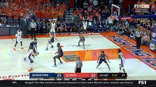 First Half Highlights: Georgetown at Illinois | Big Ten Basketball