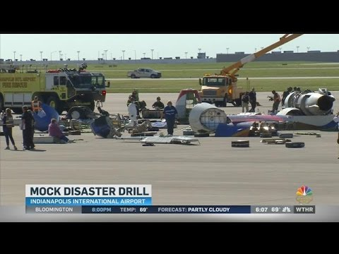 Security training exercise at Indianapolis International Airport
