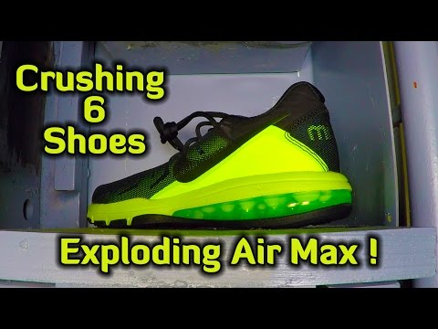 Crushing 6 Different Shoes with Hydraulic Press