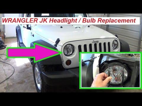 Jeep Wrangler Jk Headlight Replacement Headlight Bulb