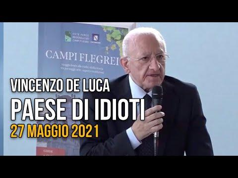 De Luca: siamo un paese di idioti, per anni contro la Casta e ora nessuno vuol far più sindaco