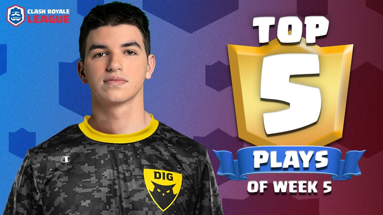 Clash Royale League: Top 5 Plays of Week 5! (CRL West 2020 Spring)
