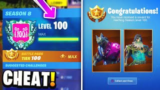 How to Reach LEVEL 100 *FAST* & Unlock ALL MAX Battle Pass Skins in Fortnite.. (Season 8)