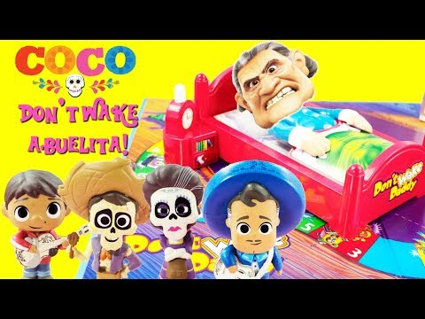 Disney COCO Don't Wake Abuelita! Game Toy Surprises Miguel,
