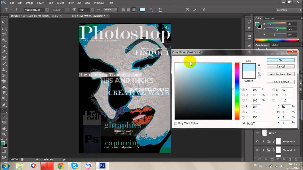تصميم غلاف مجلة احترافي How To Design Magazine Cover Youtube