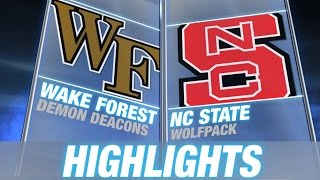 Wake Forest vs NC State | 2014 ACC Football Highlights
