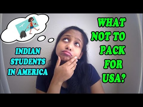 HOW TO PACK YOUR BAGS WHEN COMING TO USA 🛫🇱🇷   INDIAN STUDENTS IN USA