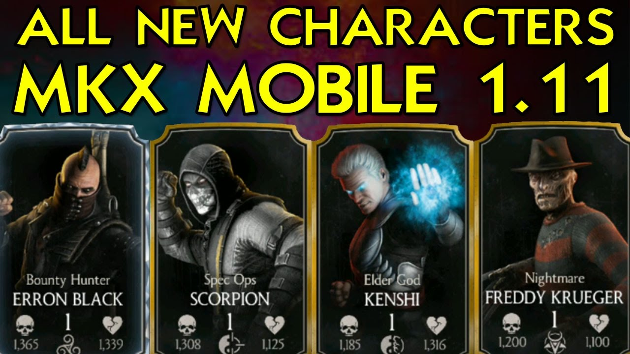 Mortal Kombat X Mobile 1 11  ALL 4 NEW CHARACTERS QUICK REVIEW! We got  FREDDY!