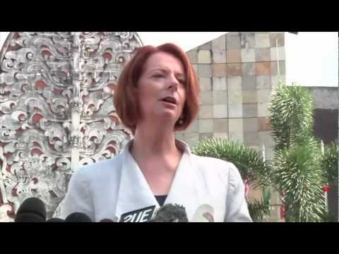 Australian Prime Minister Julia Gillard visits Bali