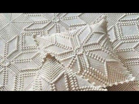 Узоры для подушки крючком схема