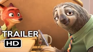 Zootopia Offiziellen Faultier Trailer (2016) Jason Bateman Disney Animated Movie HD