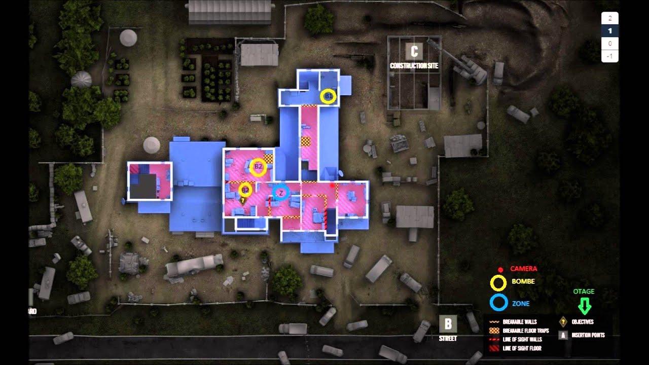 Map Rainbow Six Siege Oregon Objectifs Cameras Youtube