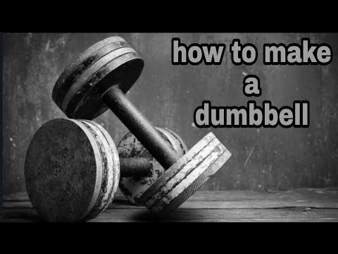#gym How to make low budget gym dumbbells at home | DIY | simple|