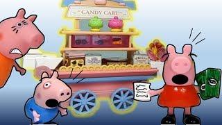 Peppa Pig e Gearge vão até a mercearia comprar pão e acabam comprando só doces! Mamãe pig fica brava